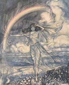 arthur rackham rainbow woman